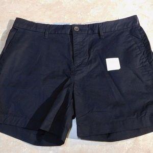 "Old Navy Black Cotton Twill 5"" Length Shorts 10"